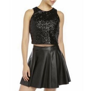 Ivanka Trump 100% Polyester Sequin Sleeveless Top